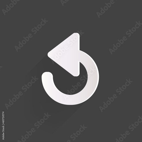 Undo icon, back arrow symbol