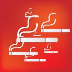 Smoking sign. cigarette icon.