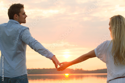 canvas print picture dawn couple