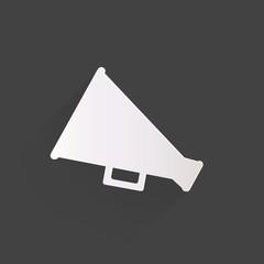 Megaphone, oudspeaker icon. Loud-hailer symbol