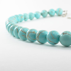 Balls of a beads from turquoise