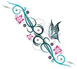 Sommer, Blumen, tribal style