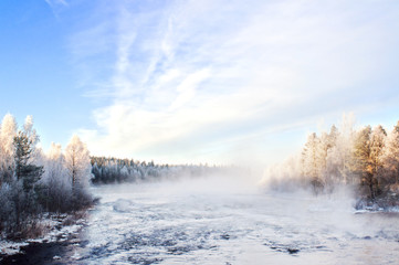 Winter landscape, captured in Finland