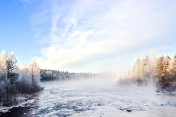 Winter landscape, captured in Finland