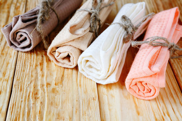 colored cotton towels for the kitchen
