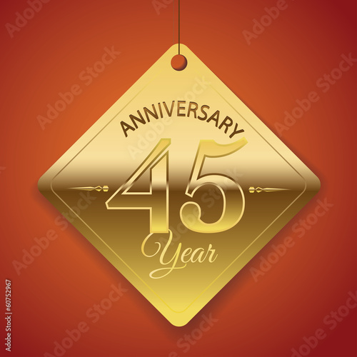 45th Anniversary poster / template/ tag design Vector Background