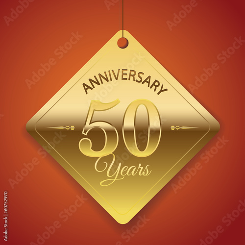 50th Anniversary poster / template/ tag design Vector Background