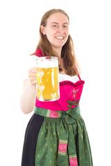 Beautiful woman saying cheers to you