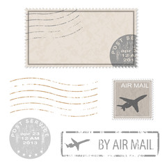 postal stamp icons