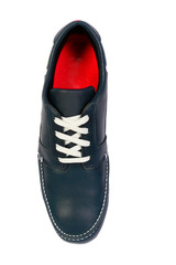 blue sport and fashion shoes