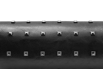 black leather with spikes