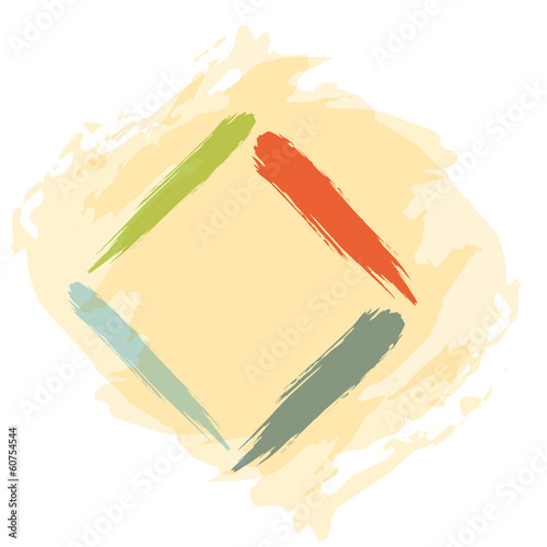 Hand drawing abstract illustration - square