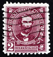 Postage stamp Uruguay 1945 Eduardo Acevedo, Politician