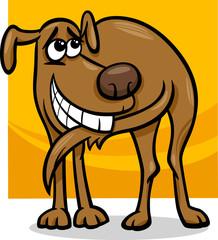 dog chasing tail cartoon illustration