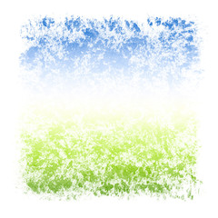 Abstract Watercolor Sky and Grass Square Textured Frame