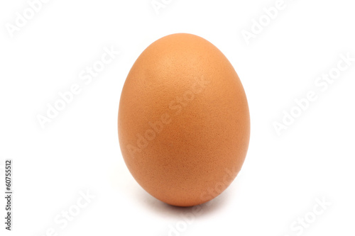 chicken egg isolated on white background