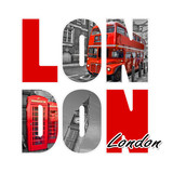 London isolated on white