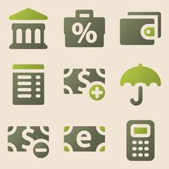 Finance web icons vintage color series