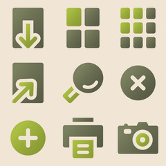 Image viewer web icons vintage color series