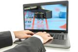 Online gambler betting on the internet