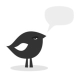 arrogant black bird, vector illustration