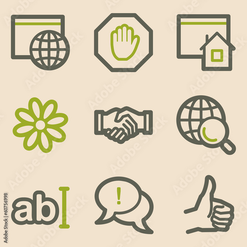 Internet web icons, vintage series