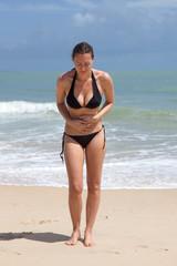 Bauchschmerzen am Strand