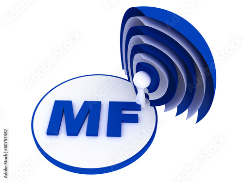 MF (medium frequency) range sign