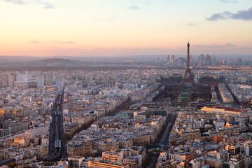 Paris au coucher de soleil