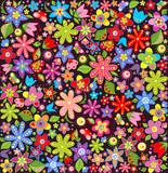 Fototapeta Bright wallpaper with summer flowers