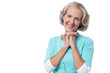 Cheerful portrait of smiling senior woman