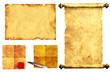 Set of ancient scrolls