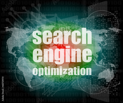 Search Engine Optimization - SEO Sign in Browser Window