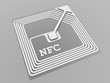 Leinwanddruck Bild - NFC technology sign
