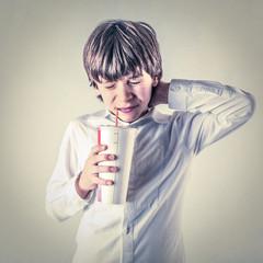 drinking kid