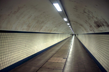 Pedestrian tunnel in Antwerp, Belgium