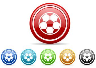 soccer icon vector set