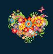 Ornate floral heart