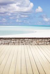 Terrasse am Strand