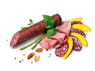 Smoked salami decorated