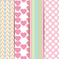 Vector set of sweet seamless patterns. Vector illustration/EPS10