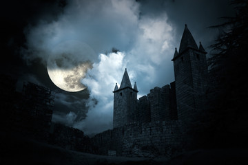 Mysterious medieval castle