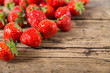 Fresh Strawberries on wooden background