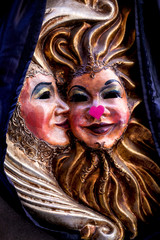Valentine masks couple