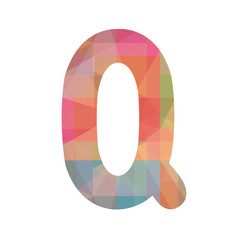 Colorful alphabet Q