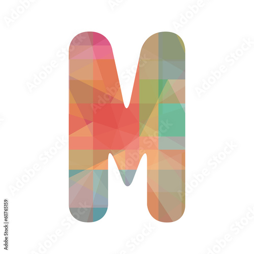 Colorful alphabet M