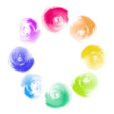 Abstract Rainbow Paint Swirl Diversity Concept