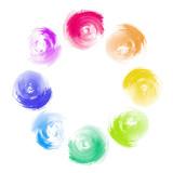 Abstract Rainbow Paint Swirl Diversity Concept
