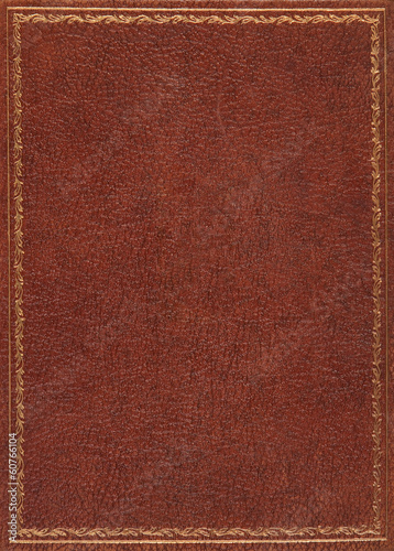 canvas print picture Brown leather cover