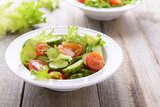 Salad from cucumbers and tomatoes